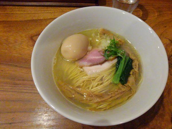 「地鶏と貝出汁そば」@中華そば 先崎の写真