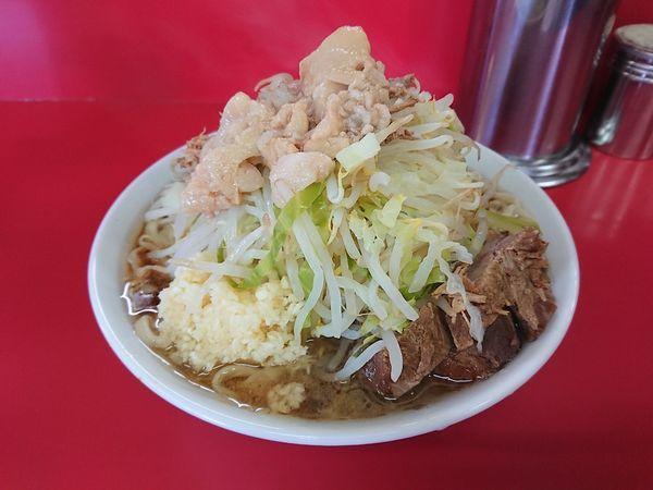 「小らーめん 750円(野菜、あぶら、ニンニク)」@ラーメン二郎 茨城守谷店の写真