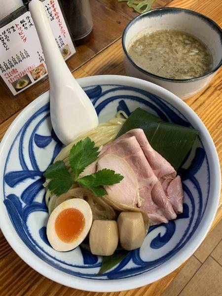 「里芋と煮干のとろ〜り濃厚つけ麺 950円」@中華そば よしかわの写真