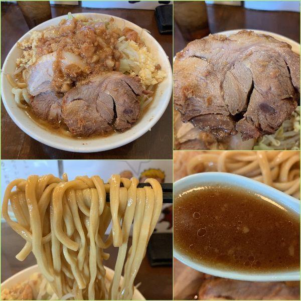 「小ラーメン¥800+ショウガ¥50(ニンニク増し・アブラ)」@麺屋 歩夢の写真