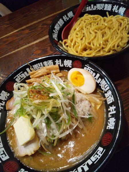 「味噌タンつけ麺890円(味濃いめ・油多め・クーポンバター)」@北のらーめん 美空の写真