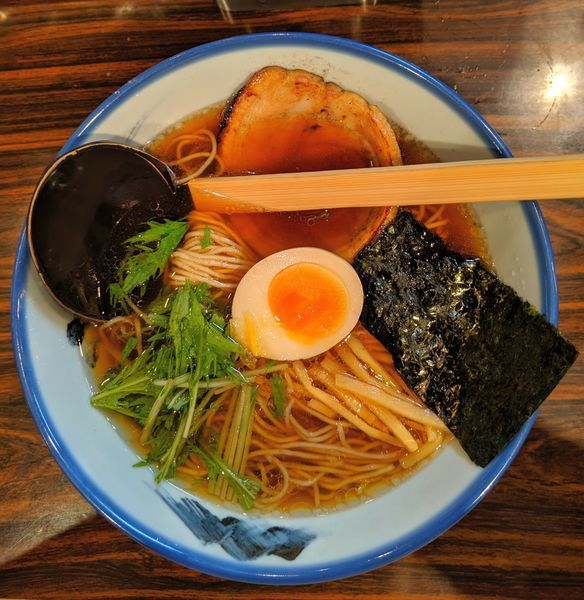 「柚子醤油らーめん 1,080円」@AFURI 三軒茶屋店の写真
