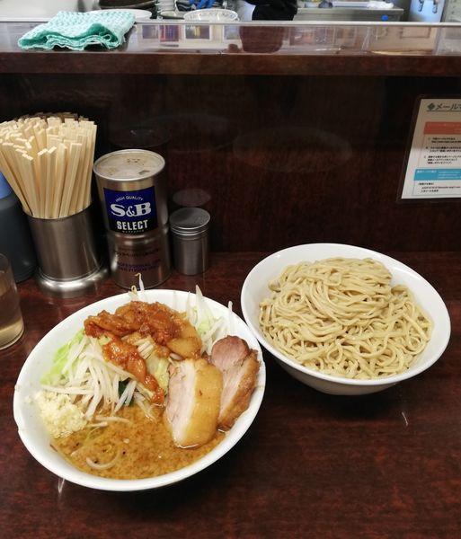 「小ラーメン+つけ麺 900円」@ラーメン二郎 めじろ台店の写真
