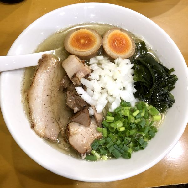 「【気まぐれ限定】塩煮干そば」@麺屋 扇 SENの写真