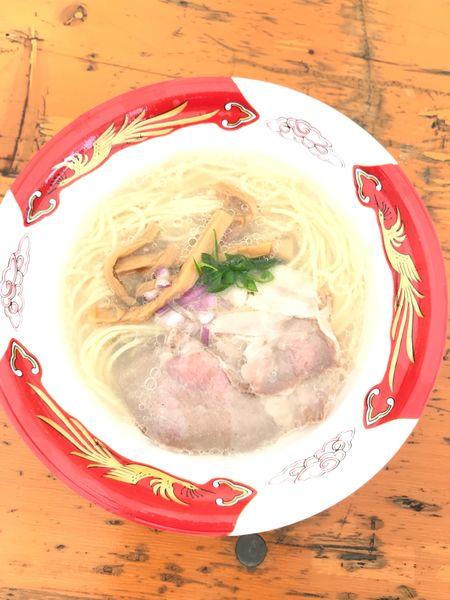 「しじみ中華蕎麦〈塩〉〉@大つけ麺博870円」@宍道湖しじみ中華蕎麦 琥珀の写真