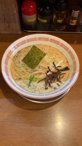 「ネギ豚骨ラーメン」@八代目 哲麺 めじろ台店の写真