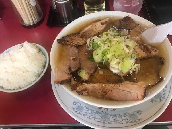 「チャーシュー多い麺イシル1,100円+半ライス150円」@かし亀の写真