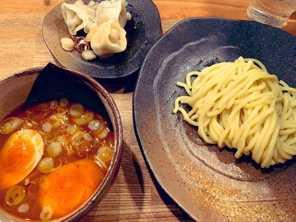 「辛味つけ麺」@つけ麺屋 やすべえ 池袋店の写真