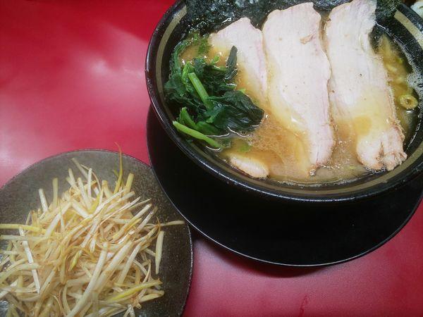 「チャーシューメン(3枚)+和風ネギ」@家系ラーメン 王道家の写真