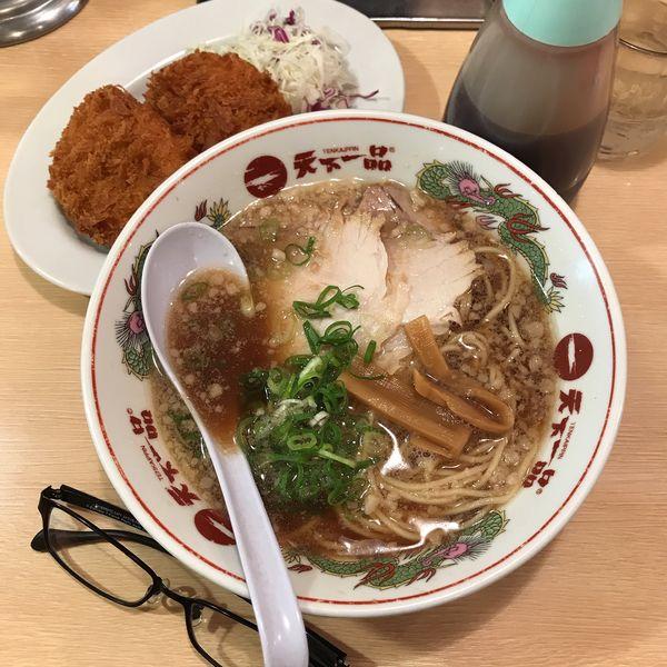 「コロッケ定食(あっさり)」@天下一品 川崎店の写真