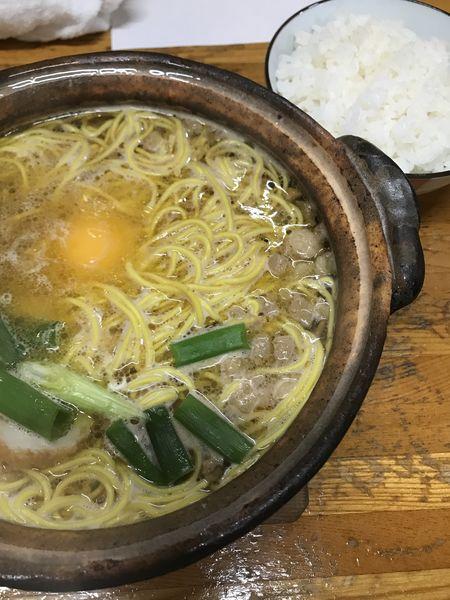 「なべ焼きラーメン普、小ごはん」@橋本食堂の写真