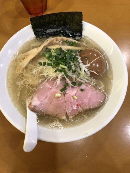 「塩ラーメン(味玉入り)」@麺屋 扇 SENの写真