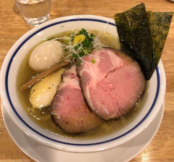 「特製中華そば 塩」@手打式 超多加水麺 ののくらの写真