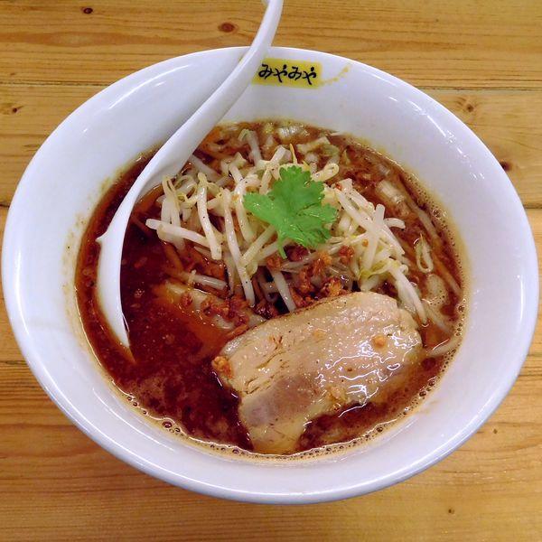 「濃辛味噌らーめん(850円)1辛」@味噌ぶり noodle みやみやの写真