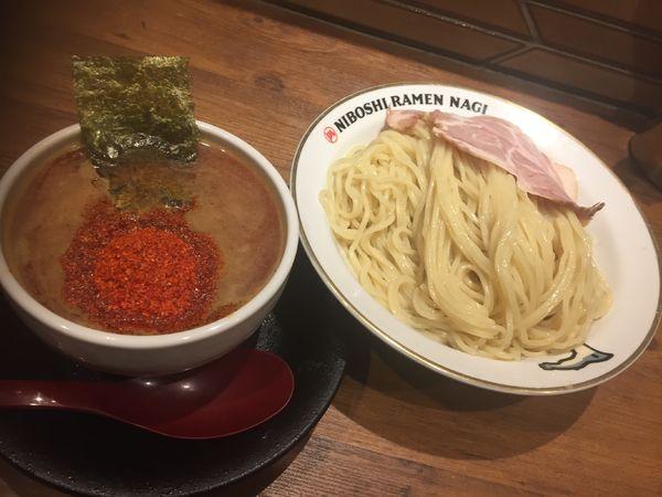 「辛い煮干しつけ麺(大盛)¥950」@NIBOSHI TSUKEMEN 凪 大宮南銀通り店の写真