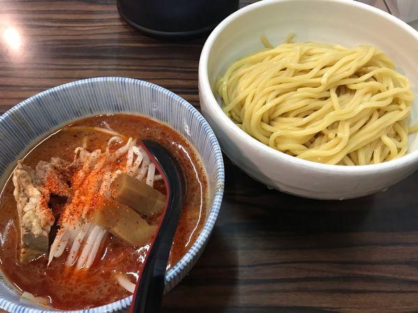 「辛味噌つけめん」@味噌麺処 花道の写真