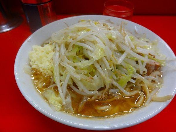 「ラーメン750円 野菜少な目ニンニク」@ラーメン二郎 松戸駅前店の写真