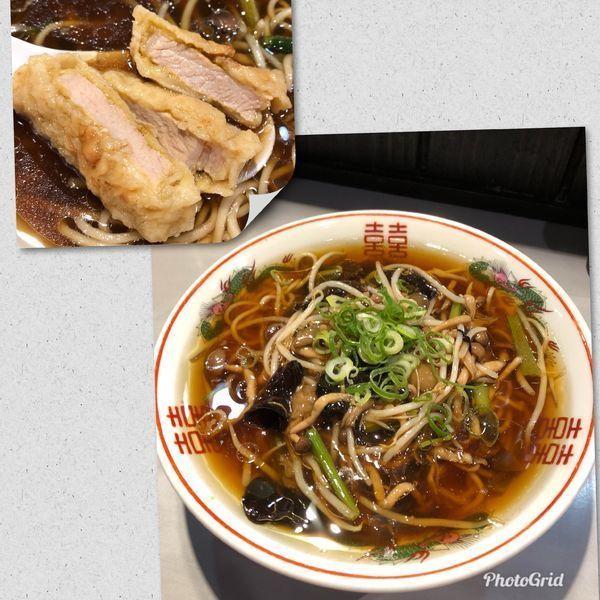 「限定・きのこあんかけの排骨湯麺¥850」@中華蕎麦 瑞山(ZUIZAN)の写真