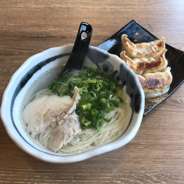 「鶏出汁にゅう麺(¥390)※」@肉汁餃子製作所 ダンダダン酒場 大森店の写真