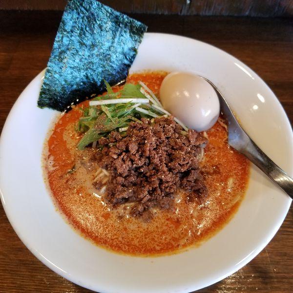 「濃厚担々麺+味玉」@Soupmenの写真