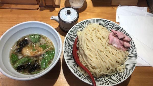 「塩つけ麺 中盛り」@焼きあご塩らー麺 たかはし 上野店の写真