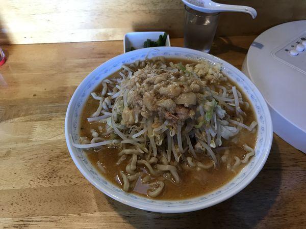 「味噌ラーメン麺増し ニンニクの芽」@三十郎 下館駅南店の写真