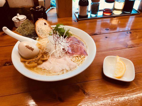 「濃厚鶏白湯 塩 大盛り 味玉」@上気元 いただきの写真