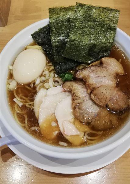 「特製平子煮干そば980円、大盛無料」@新橋 纏 京王高幡SC店の写真