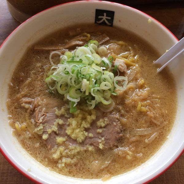 「味噌ラーメン(大盛)950円」@大島の写真