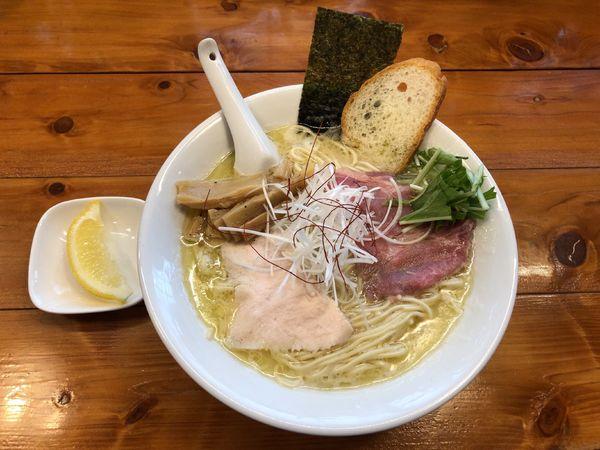 「濃厚鶏白湯(塩)+半ライス」@上気元 いただきの写真