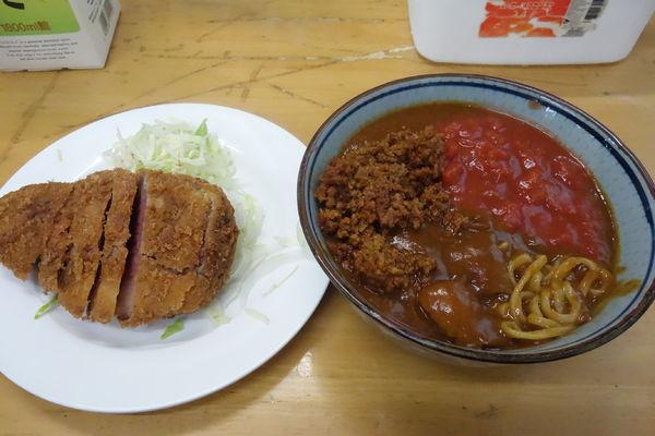 「【限定】キーマ風カレー(S/ビーフカツ)辛牛キーマ風移行」@MENYA 食い味の道有楽の写真