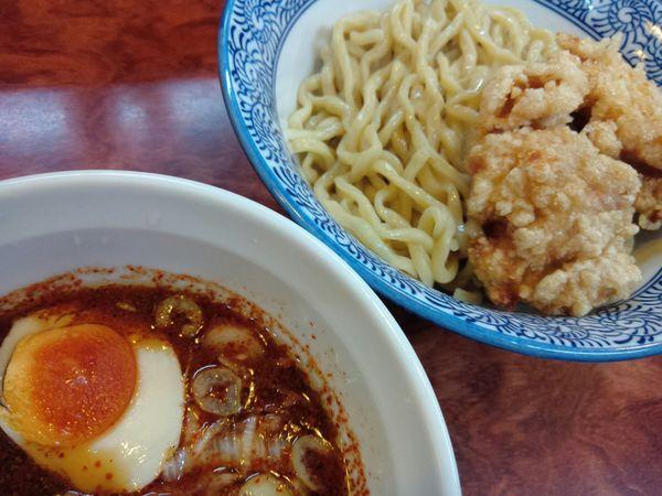 「つけ麺・赤(並 200g) ¥850」@元気屋の写真