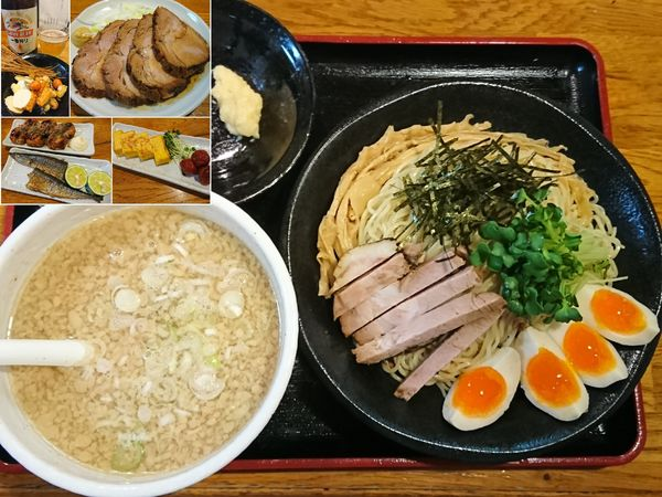 「【限定】背脂煮干しそば(塩)つけ麺Ver. ¥800」@麺屋 鶏口の写真