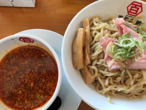 「旨辛つけ麺」@百年本舗 沖縄浦添店の写真