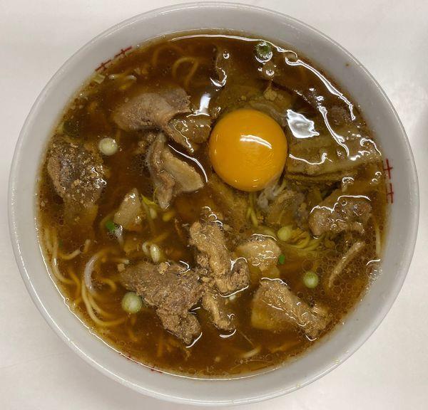 「中華そば肉入り中」@いのたに 鳴門店の写真