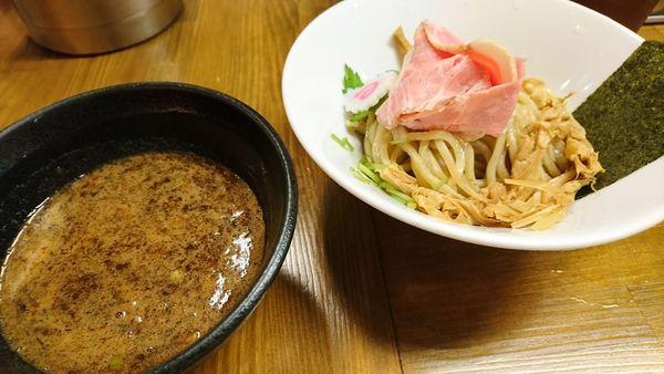 「【夜】濃厚魚介つけ麺」@馳走麺 狸穴の写真