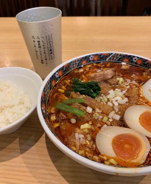 「排骨酸辣麺他(大辛・バリカタ¥1080)」@寿限無担々麺 上野店の写真