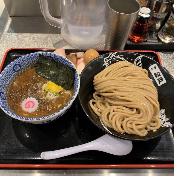 「柏幻霜ポーク 全部乗せ濃厚つけ麺」@松戸富田麺絆の写真