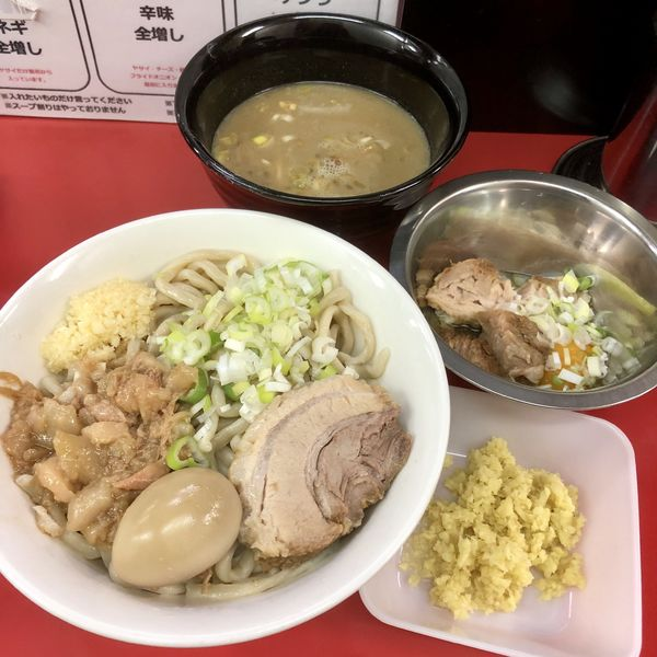 「つけ麺¥850+生姜¥30+スキヤキ¥100」@ラーメン一心の写真