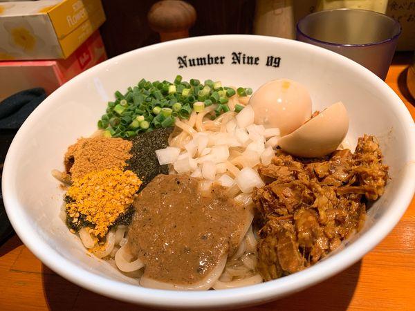 「油そば+味玉」@麺Dining Number Nine 09の写真