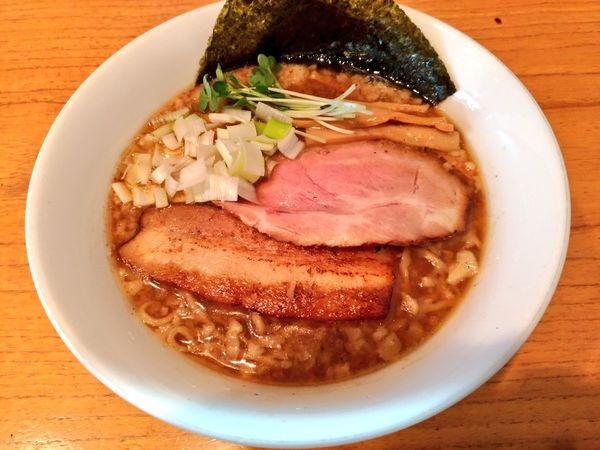 「きまぐれ限定 鶏だし魚介背脂中華そば」@麺屋 シロサキの写真