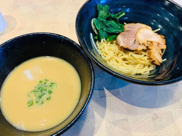 「限定:鶏豚つけ麺」@しょうゆのおがわや 厚木246号店の写真