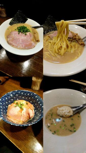 「『牛すじ白湯らぁ麺+肉丼(¥650+150)』」@Soupmenの写真