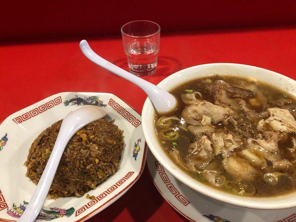 「ラーメン+焼飯1250円」@末廣ラーメン本舗 仙台駅前分店の写真