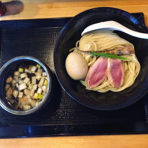 「鴨汁つけ麺  普通  味玉」@鴨麺 あら井の写真