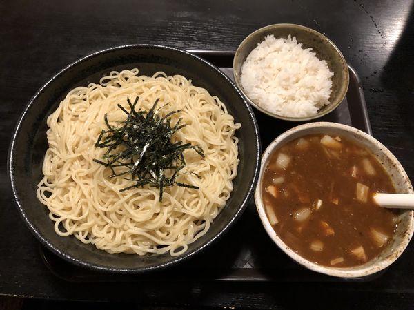 「カレーつけ麺細麺中盛り」@秋田ラーメン はまの写真