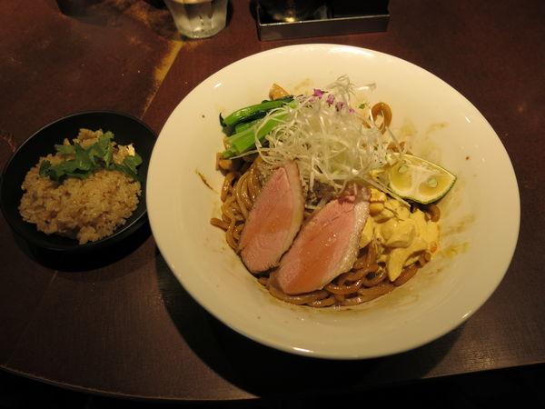 「もち麦新麺の秋薫る秋刀魚和え麺:1100円」@麺屋武蔵 武仁の写真