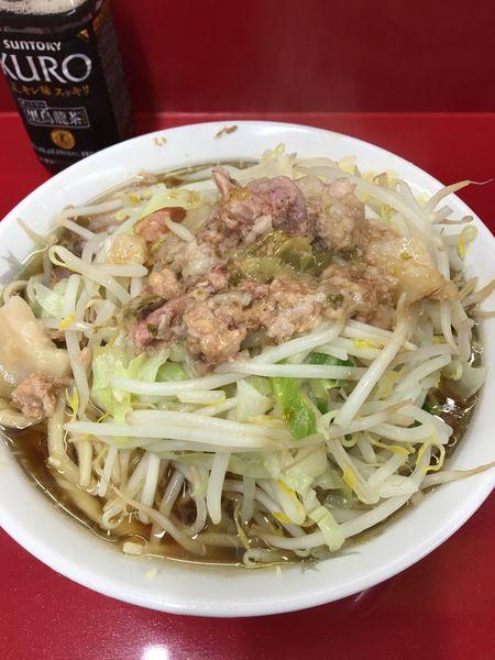 「小ラーメン 麺硬め ニンニク アブラ」@ラーメン二郎 越谷店の写真