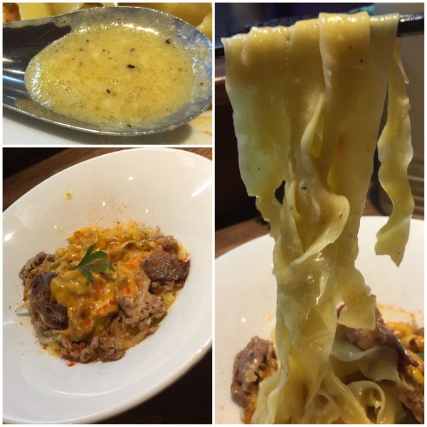 「【10月限定】フィリーチーズステーキとカルボナーラのまぜそば」@らー麺屋 バリバリジョニーの写真