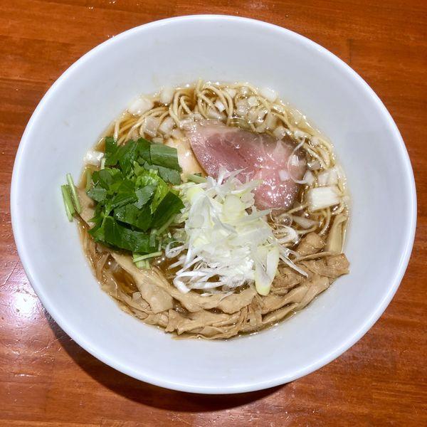 「【限定】二段仕込煮干しそば ¥800」@中華そば 輝羅の写真